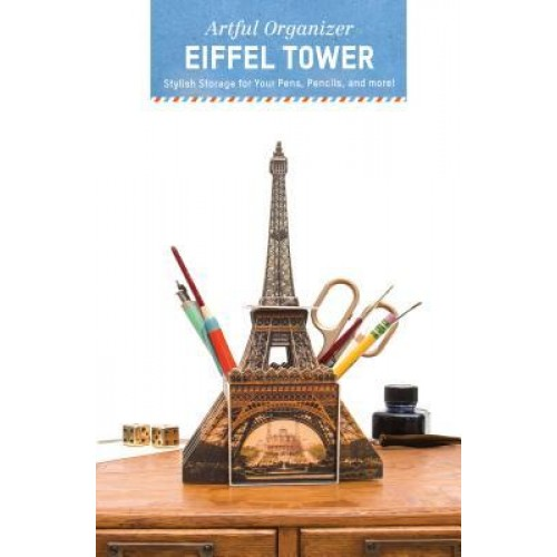 Artful Organizer: Eiffel Tower: Stylish Storage for Your Pens, Pencils, and More!