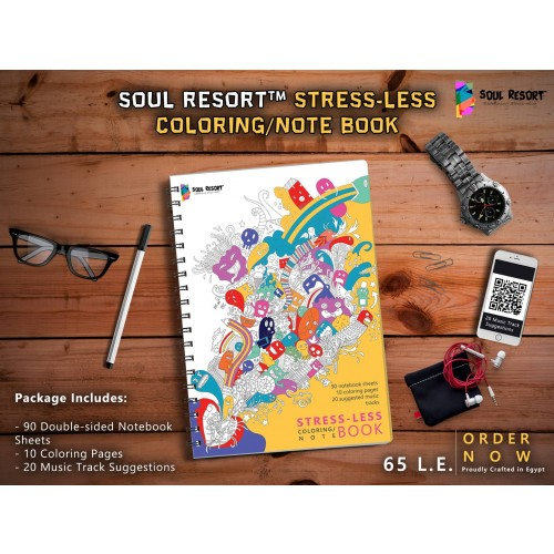 Soul Resort™ Stress-LESS Coloring/Note Book