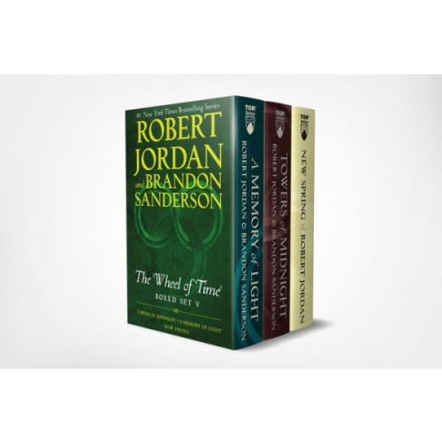 Wheel of Time Premium Boxed Set V: Book Thirteen: Towers of Midnight, Book Fourteen: A Memory of Light, Prequel: New Spring