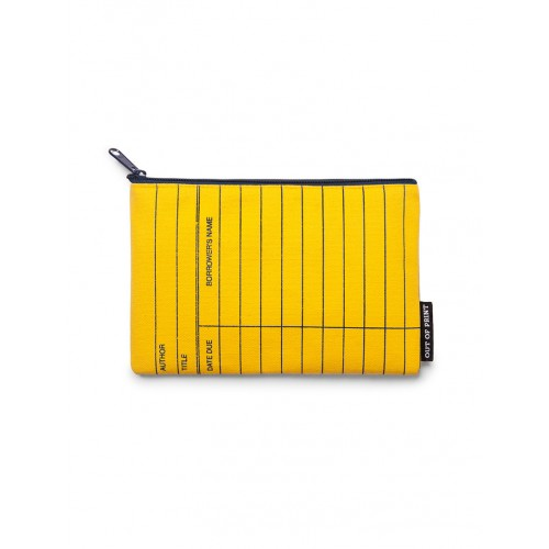 Library Card: Yellow - Pouch