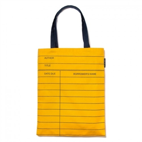 Library Card: Yellow - Tote Bag
