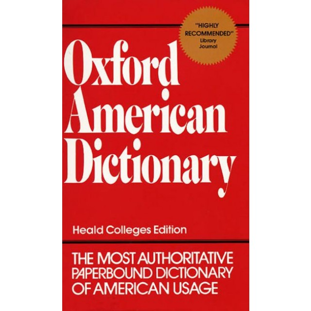 the oxford american dictionary The new oxford american dictionary is not a historical dictionary, but a dictionary of current english, and is much smaller than the oed in the number of terms covered (if you have a mac, you already have this dictionary, because it's the dictionary used by the dictionary widget in the dashboard.